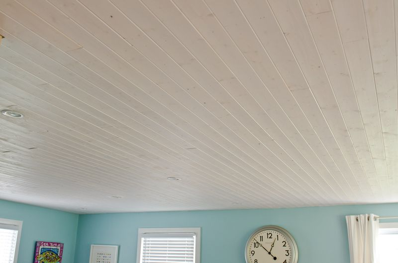Wood Plank Ceiling Recessed Lighting